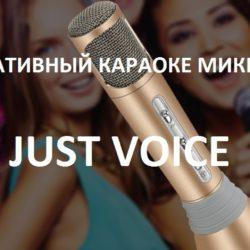Портативный караоке-микрофон Just Voice для любителей попеть
